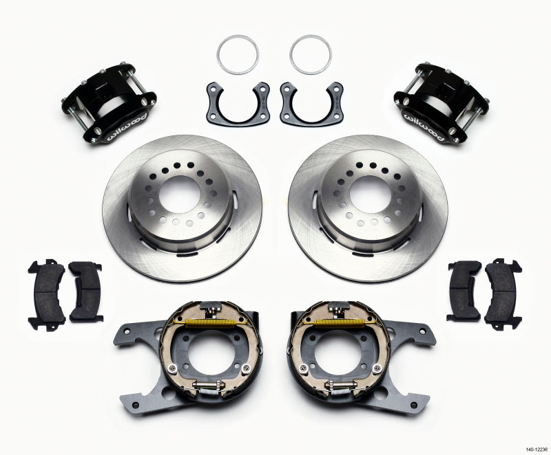 Wilwood D154 P/S Park Brake Kit New Big Ford 2.50in Off Staggerd Mount