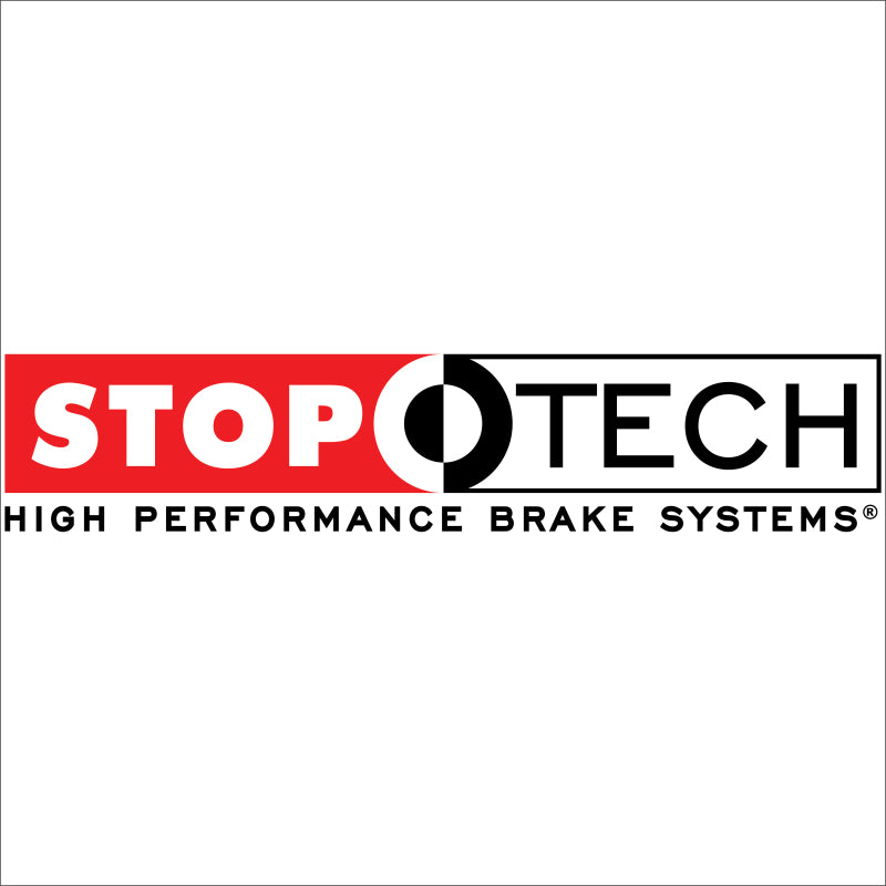 StopTech 08-09 Honda Civic Si 1PC Rotor Black ST-41/Pads/SS Lines Touring Drilled Front Brake Kit