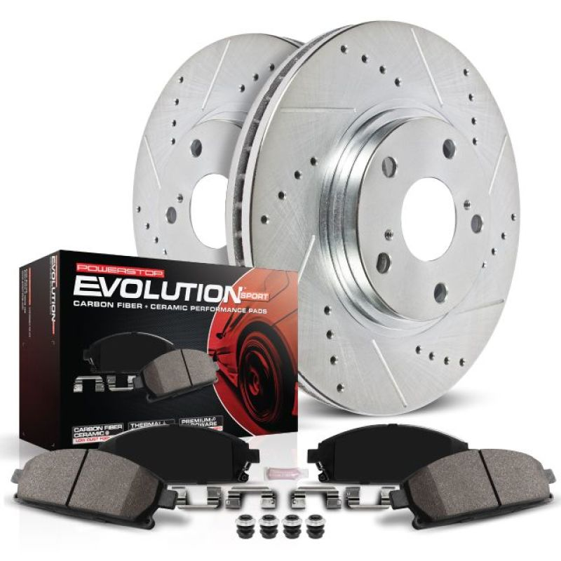 Power Stop 10-15 Hyundai Sonata Front Z23 Evolution Sport Brake Kit