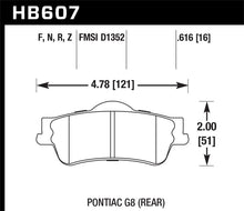 Load image into Gallery viewer, Hawk 08-09 Pontiac G8 3.6 Base/6.0 HP+ Street Rear Brake Pads