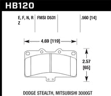 Load image into Gallery viewer, Hawk Mitsubishi 3000 GT VR4/ Dodge Stealth R/T 4WD Blue 9012 Race Front Brake Pads