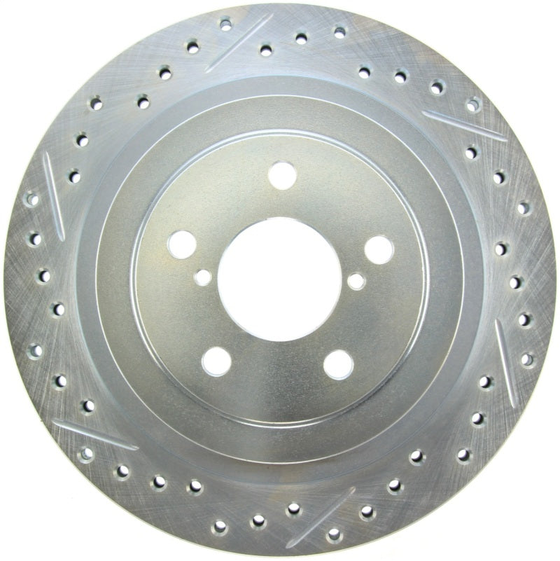 StopTech Select Sport 05-09 Subaru Legacy Select Slotted & Drilled Vented Right Rear Brake Rotor