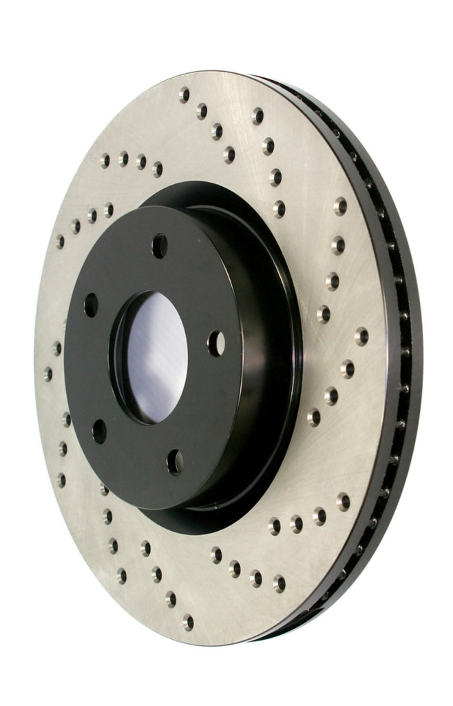 StopTech Sport Cross Drilled Brake Rotor - Rear Right