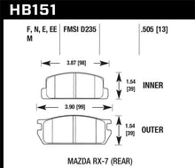 Load image into Gallery viewer, Hawk Mazda RX-7 Black Race Rear Brake Pads