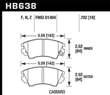 Load image into Gallery viewer, Hawk Camaro V6 Performace Ceramic Street Front Brake Pads