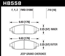 Load image into Gallery viewer, Hawk 06-09 Jeep Commander / 05-09 Grand Cherokee Front Performance Ceramic Street Brake Pads
