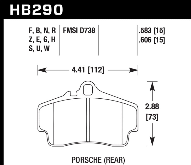 Hawk Porsche HPS Street Rear Brake Pads