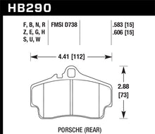 Load image into Gallery viewer, Hawk Porsche HPS Street Rear Brake Pads