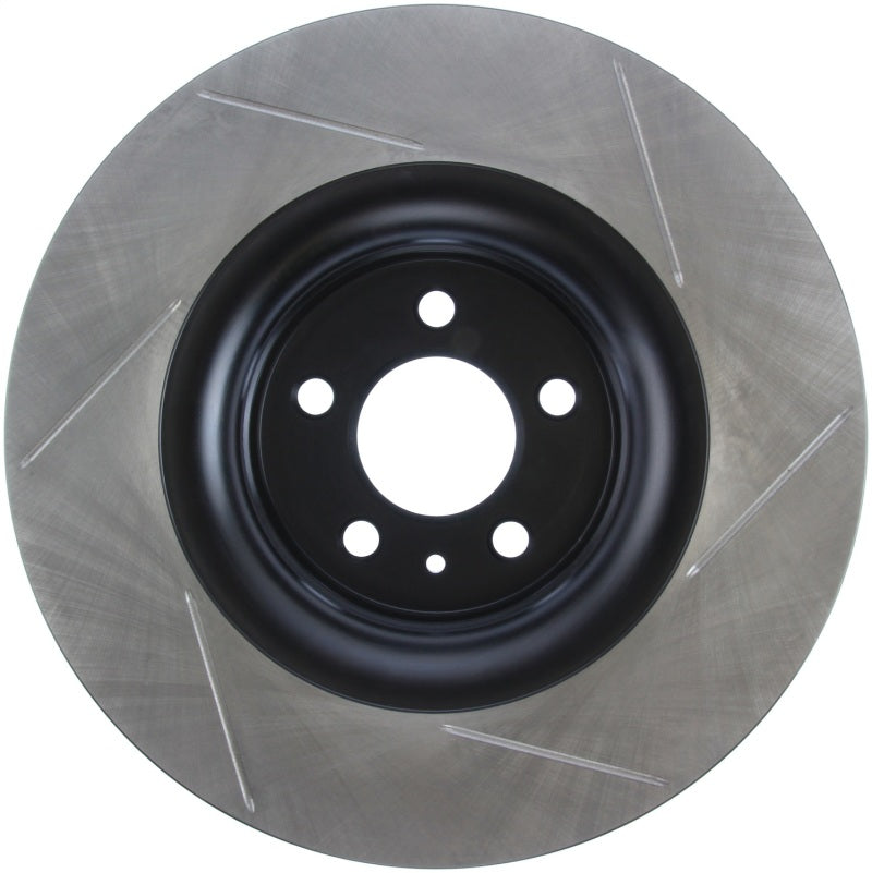 StopTech 15-17 Ford Mustang Slotted Front Right Sport Brake Rotor