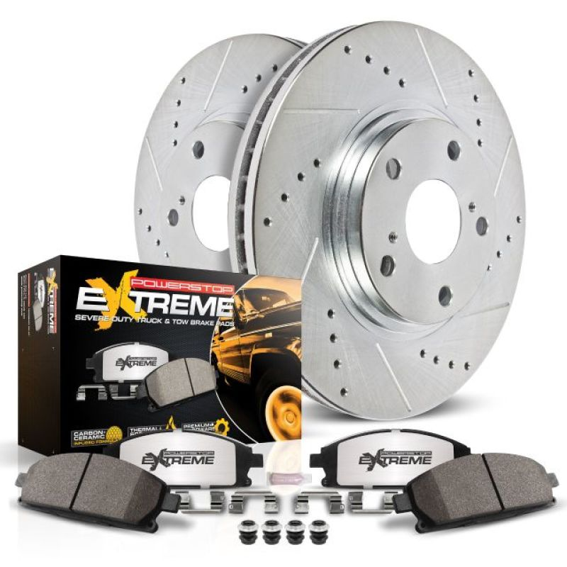 Power Stop 10-19 Lexus GX460 Front Z36 Truck & Tow Brake Kit