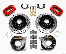 Load image into Gallery viewer, Wilwood Forged Dynalite P/S Park Brake Kit Drill Red New Big Ford 2.50in Offset Front Caliper Mount