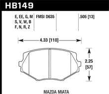 Load image into Gallery viewer, Hawk 94-05 Miata (01-05 Normal Suspension) Blue 9012  Race Front Brake Pads D635