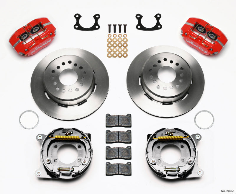 Wilwood Dynapro Dust-Boot P/S Park Brake Kit Red Small Ford 2.66in Offset