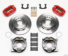 Load image into Gallery viewer, Wilwood Dynapro Dust-Boot P/S Park Brake Kit Red Small Ford 2.66in Offset