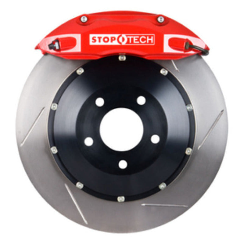 StopTech 17 Volkswagen Jetta GLI w/ Red ST-40 Calipers 328x28mm Slotted Rotors Front Big Brake Kit