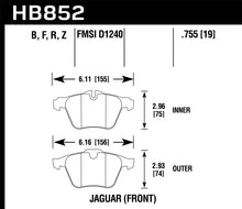 Load image into Gallery viewer, Hawk 05-09 Jaguar XJR / 10-15 Jaguar XJ HPS 5.0 Front Brake Pads