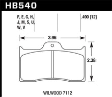Load image into Gallery viewer, Hawk DTC-80 Wilwood 7112 12mm Race Brake Pads