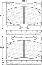 Load image into Gallery viewer, StopTech Performance 05-12 Acura RL Front Brake Pads