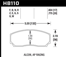 Load image into Gallery viewer, Hawk DTC-80 AP Racing 17mm Race Brake Pads