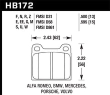 Load image into Gallery viewer, Hawk Porsche 911 M-Caliper Black Race Brake Pads