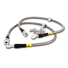 Load image into Gallery viewer, StopTech 89-98 Porsche 911 Stainless Steel Front Brake Lines