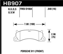 Load image into Gallery viewer, Hawk 2016 Porsche 911 Carrera S HPS 5.0 Front Brake Pads