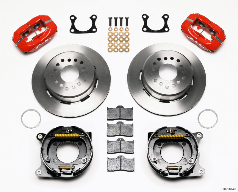 Wilwood Forged Dynalite P/S Park Brake Kit Red Big Ford 2.36in Offset