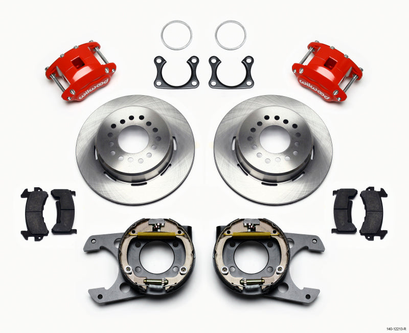 Wilwood D154 P/S Park Brake Kit Red Big Ford 2.36in Offset