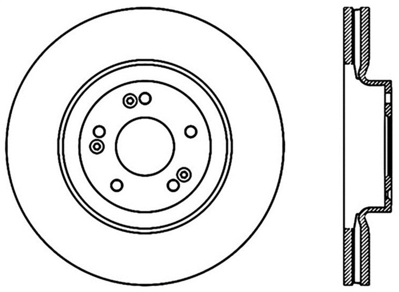 StopTech Sport Cross Drilled Brake Rotor - Front Left