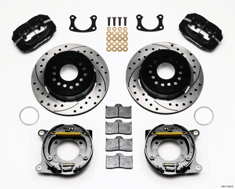 Wilwood Forged Dynalite P/S Park Brake Kit Drilled New Big Ford 2.50in Offset