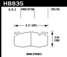 Load image into Gallery viewer, Hawk 13-16 BMW 5 Series HPS 5.0 Front Brake Pads