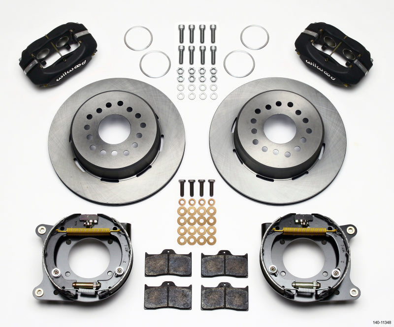 Wilwood Forged Dynalite P/S Park Brake Kit 55-57 Chevy 2.34in Offset