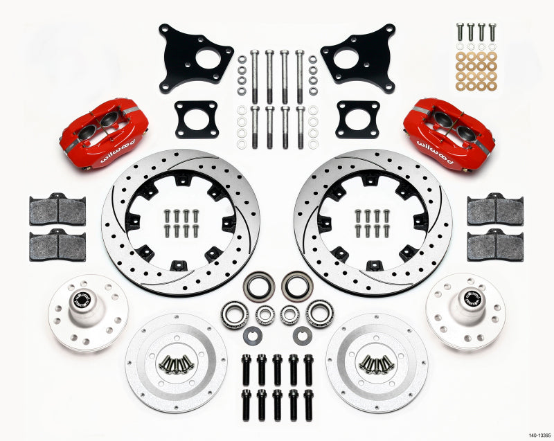 Wilwood Forged Dynalite Front Kit 12.19in AMC 71-76 OE Disc w/o Bendix Brakes
