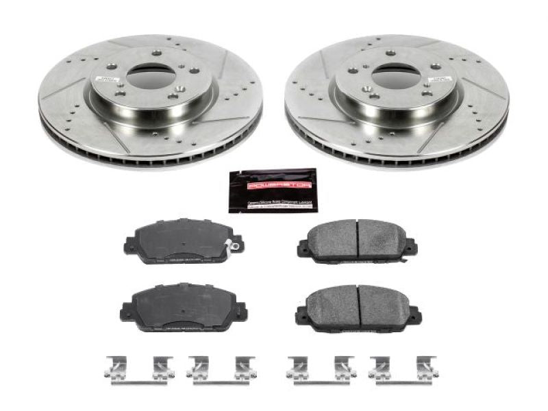 Power Stop 13-19 Honda Accord Front Z23 Evolution Sport Brake Kit
