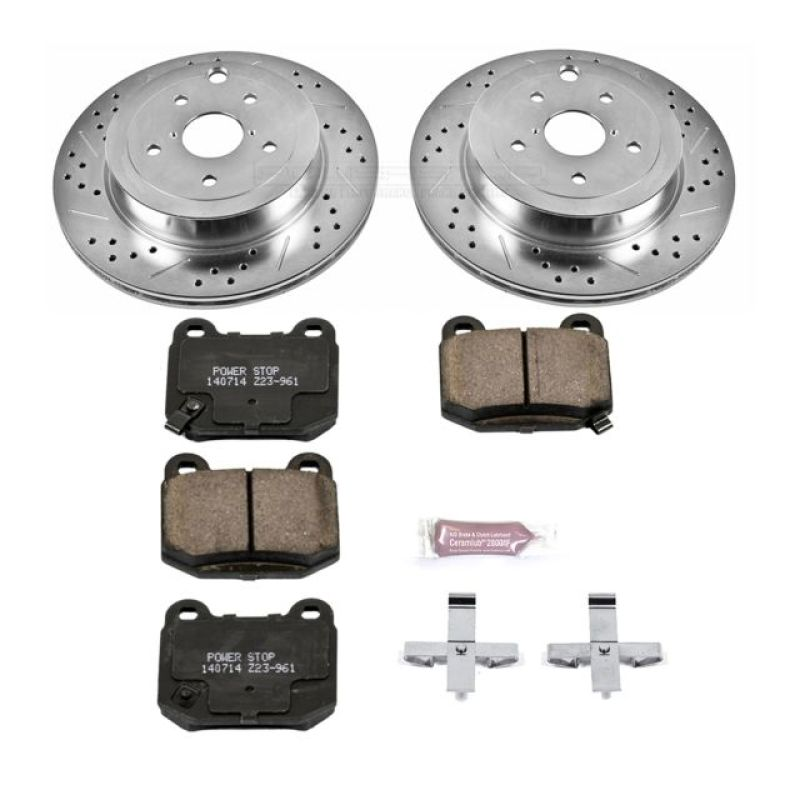Power Stop 08-14 Subaru Impreza Rear Z23 Evolution Sport Brake Kit