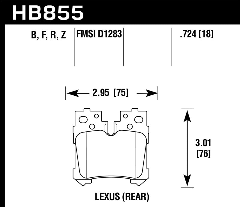 Hawk 07-17 Lexus LS460 / 08-16 Lexus LS600h Performance Ceramic Street Rear Brake Pads