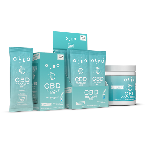 Oleo CBD Drink Mix is recommended by Thryv Organics CBD in Dallas, Texas