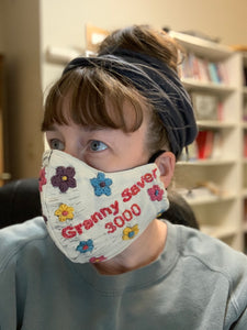 Granny Saver 3000 Face Mask Embroidery Sampler