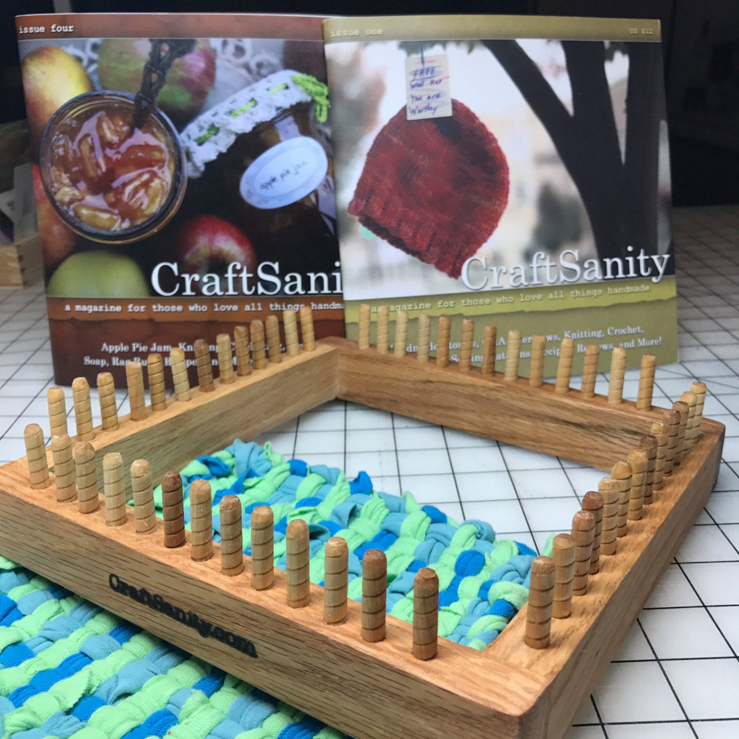 Sale! CraftSanity Potholder Loom & TWO print issues of CraftSanity Magazine