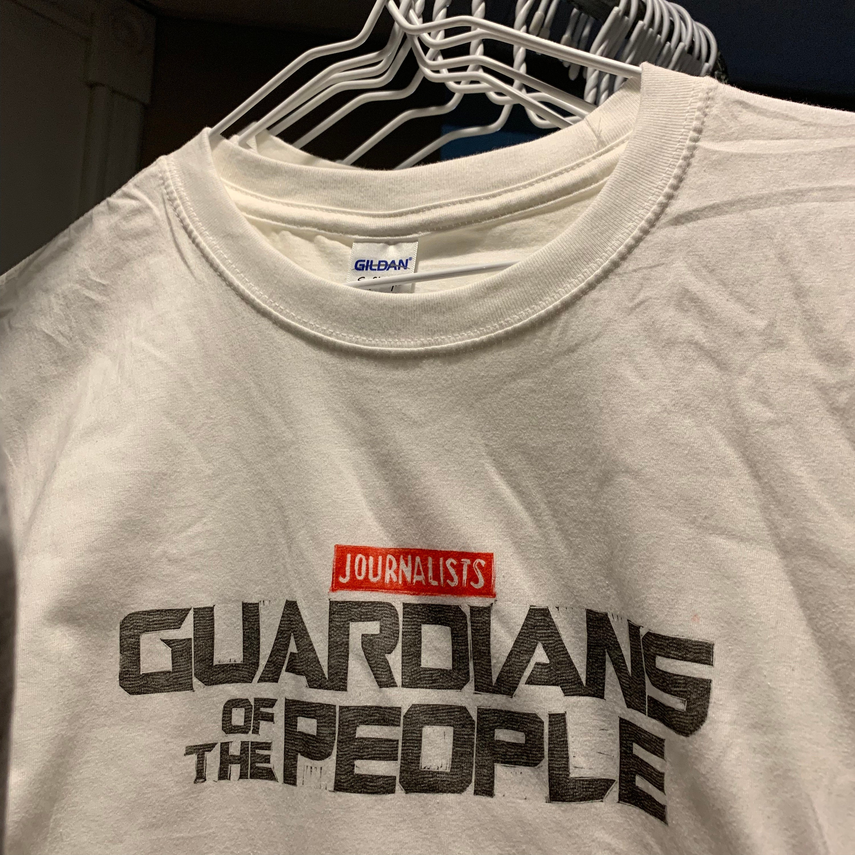 Sale! Journalists: Guardians of the People handprinted t-shirt