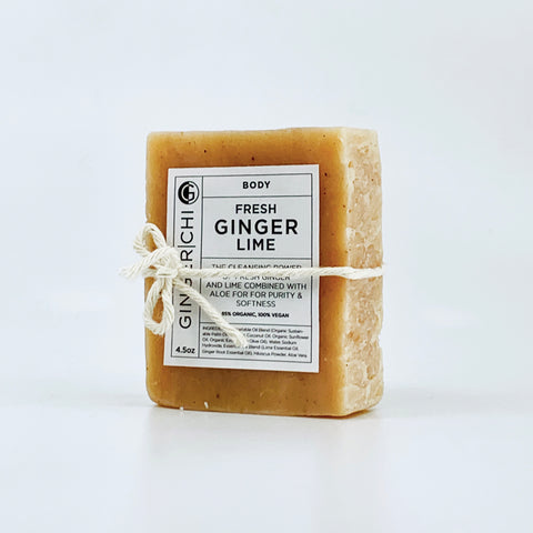 Fresh Ginger Lime Soap for a refreshing pure and gentle clean.