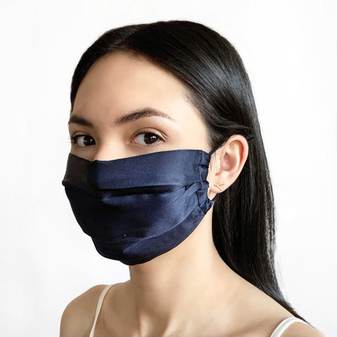 Silk Mask Indigo Blue Gingerchi