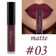 Load image into Gallery viewer, Sexy long lasting waterproof super matte lipstick moisturizing cream velvet lipstick makeup beauty A00180XX