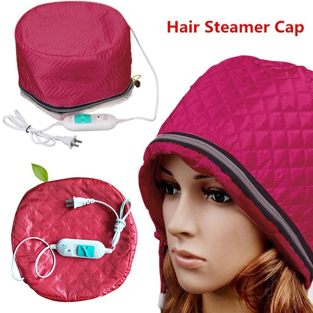 220V US Plug Electric Hair Thermal Treatment Beauty Steamer SPA Nourishing Hair Care Cap