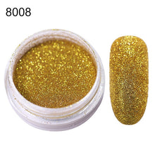 Load image into Gallery viewer, Gradient Shiny Nail Glitter Set Powder Laser Sparkly Manicur Nail Art Chrome Pigment Silver DIY Nail Art Decoration Kit