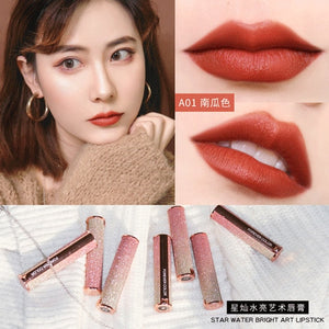 Matte lipstick Angel's lipstick carved mermaid  female Waterproof Velvet Lip Stick 10 color Sexy beauty cosmetic makeup
