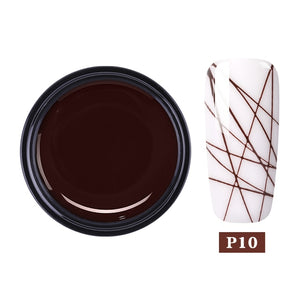 Spider Nail UV Gel Painting Creative Nail Art Gel Polish Wire Drawing Elasticity Point Line Gel varnish Varnish