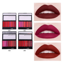 Load image into Gallery viewer, Creative Matte Lipstick Palette Easy Coloring Waterproof Sweatproof Lip Cream With Lip Brush Makeup Hot Selling