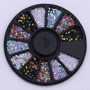 Mixed Color Chameleon Stone Nail Rhinestone Small Irregular Beads  3D Nail Art Decoration In Wheel Accessories