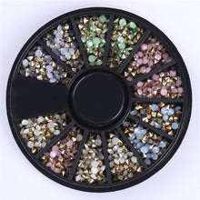 Load image into Gallery viewer, Mixed Color Chameleon Stone Nail Rhinestone Small Irregular Beads  3D Nail Art Decoration In Wheel Accessories